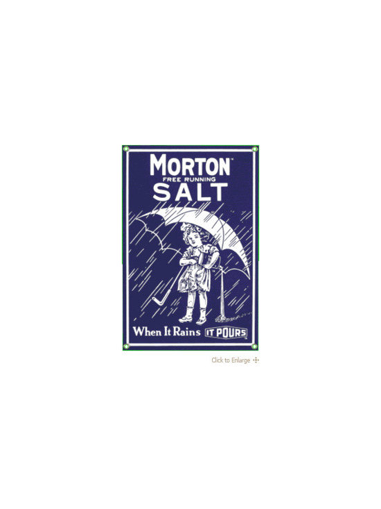 1914 Morton Salt Sign - Nostalgic Sign -
