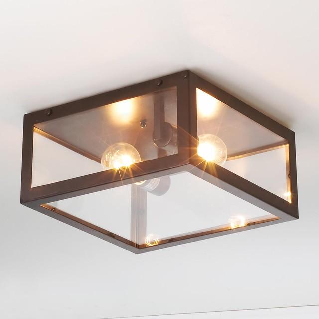 Modern Industrial Ceiling Light - Flush-mount Ceiling Lighting - by Shades of Light