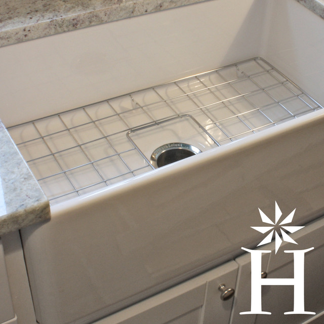 ... Single Bowl Fireclay Farmhouse Kitchen Sink contemporary-kitchen-sinks