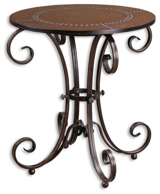 Lyra Round Accent Table traditional-side-tables-and-end-tables