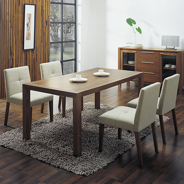 Glen Cream Fabric Dining Chairs (Set of 2) contemporary-dining-chairs