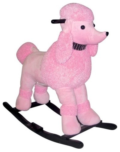 Charm Precious Pink Poodle Rocker Traditional Kids