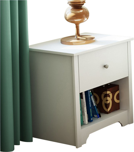 South Shore Breakwater Nightstand in Pure White Finish transitional-nightstands-and-bedside-tables