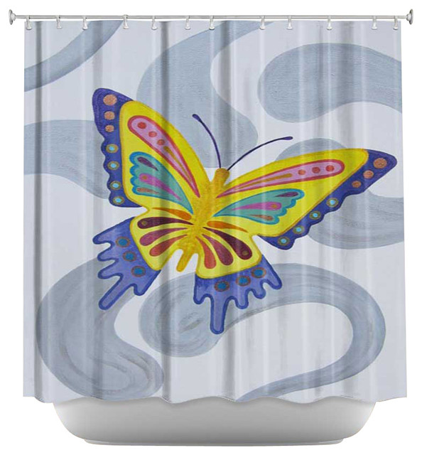 Shower Curtain Artistic - Butterfly contemporary-shower-curtains