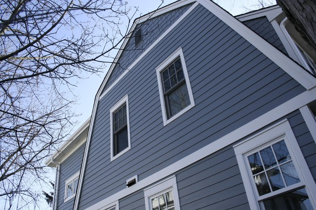 Boothbay blue james hardie fiber cement siding modern for Modern fiber cement siding