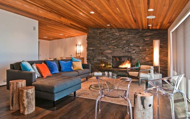 Des Moines Mcm Remodel Modern Living Room Seattle