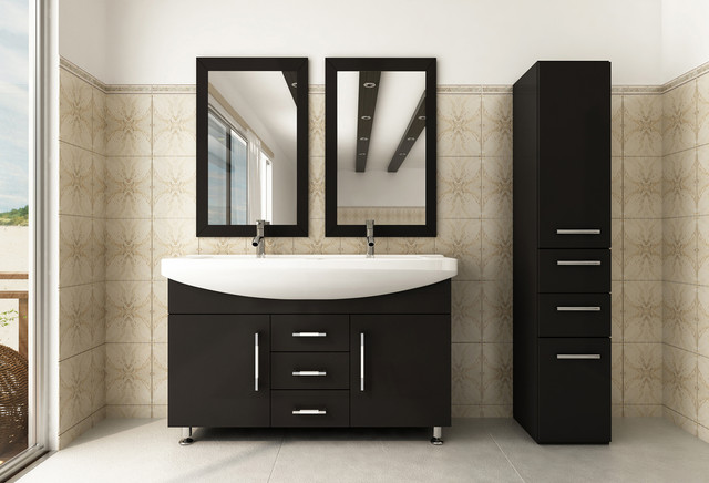 48 Celine Double Bathroom Vanity Modern Bathroom Vanities And Sink
