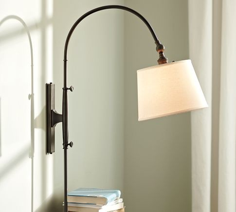 Wall Lamps Pottery Barn : Adjustable Arc Sconce - Contemporary - Wall Sconces - by Pottery Barn