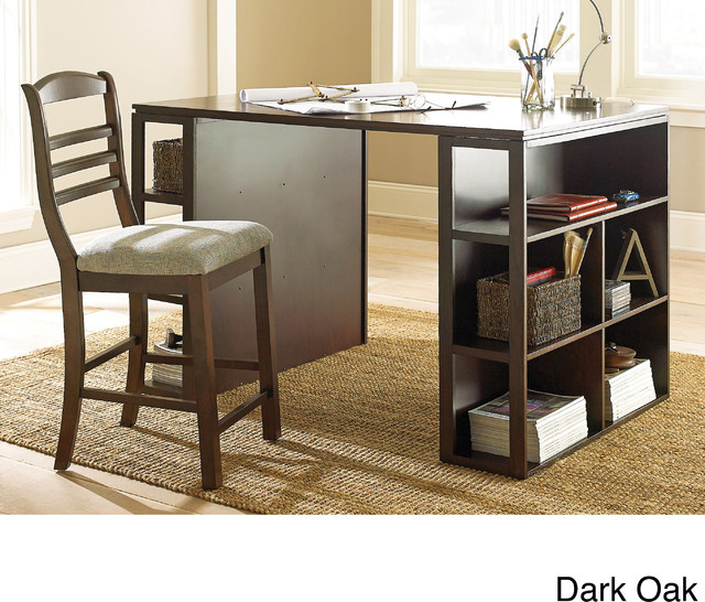 Counter Height Office Table : Barclay Black Counter Height Desk - Contemporary - Desks And Hutches ...