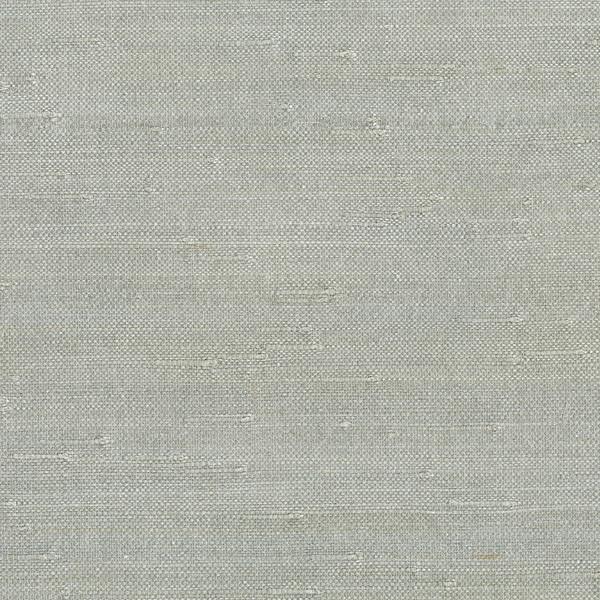 Jin Light Grey Grass Cloth Wallpaper - Asian - Wallpaper - by Brewster ...