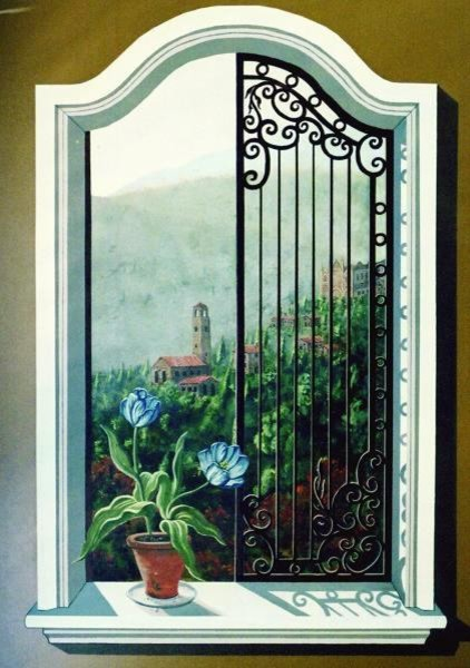 Peacock bathroom decor - Trompe L Oeil Window Murals By Tom Taylor Of Wow Effects Contemporary