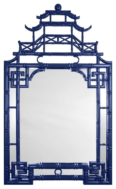 Pagoda Mirror, Blue asian-mirrors