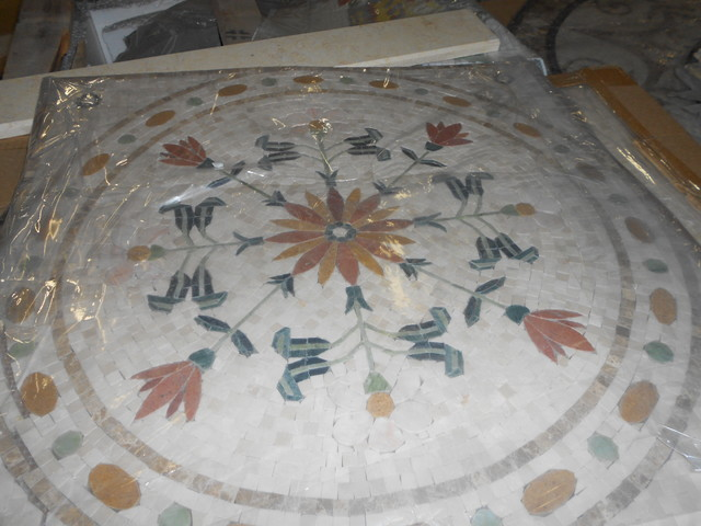 Custom Marble Water Jet Medallion traditional
