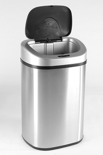 21.1 Gallon Stainless Steel Motion Sensor Trash Can modern-trash-cans