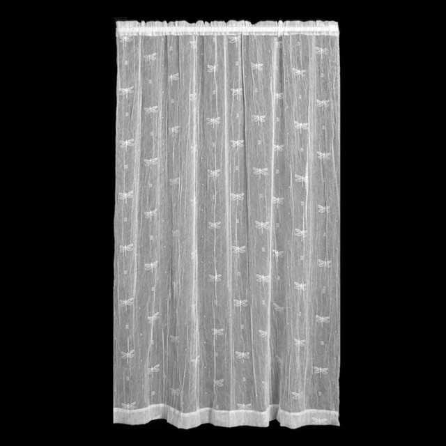 Heritage Lace Dragonfly Curtain Panel - Modern - Curtains - by Hayneedle