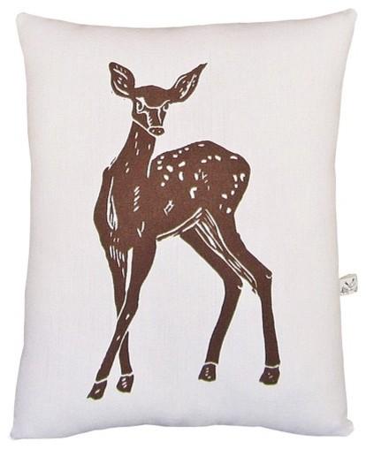 Deer Block Print Squillow Accent Pillow - Modern - Decorative Pillows - by AllModern