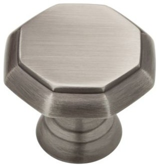 Liberty Hardware PN0292-904-CP Athens 1.26 Inch Round Knob - Heirloom Silver modern-cabinet-and-drawer-knobs