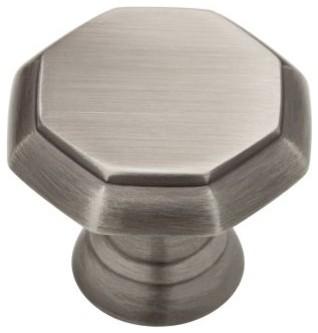 Liberty Hardware PN0292-904-CP Athens 1.26 Inch Round Knob - Heirloom Silver modern-knobs