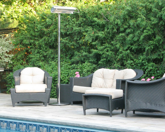 Aura Patio Plus Stainless Steel Infrared Patio Heater - Sleek and modern, the Aura Patio Plus Stainless Steel Infrared Patio Heater will serve as a functional and beautiful design piece in your outdoor entertaining area. -Mantels Direct