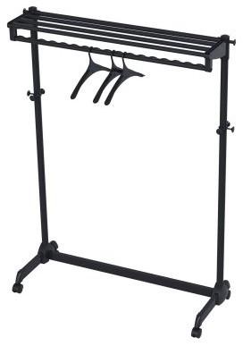 Modern Mobile ALBA Garment Rack With 3 Hangers - Black modern-drying-racks