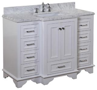 Nantucket 48 In Bath Vanity Carrara White Transitional Bathroom Vanities And Sink Consoles