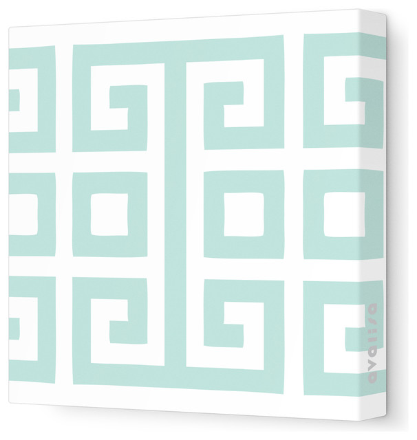 "Pattern - Big Square Stretched Wall Art, 18"" x 18"", Sea Green contemporary-kids-decor"
