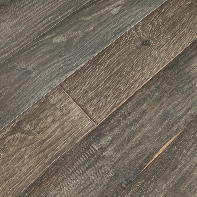 Vintage French Oak Ebony Engineered Modern Engineered