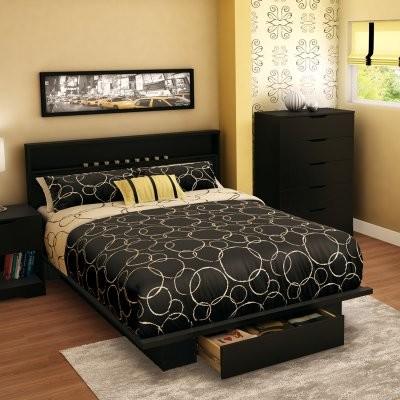 Trinity Storage Platform Bed - Pure Black modern-beds