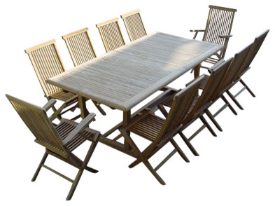 eleven outdoor dining set by anderson teak contemporary patio