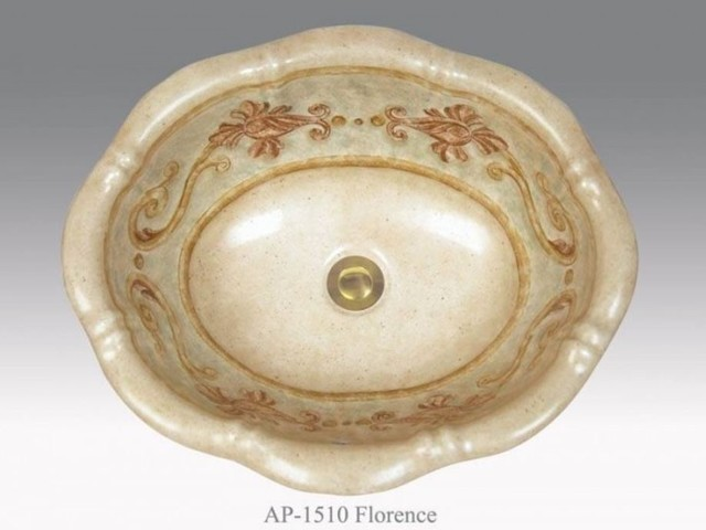 Hand Painted Sinks : Tuscan inspired hand painted lavatory sink - Bathroom Sinks - other ...