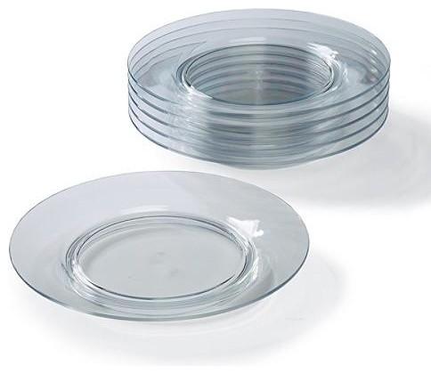 Set of Six Starbase Dinner Plates traditional-dinner-plates