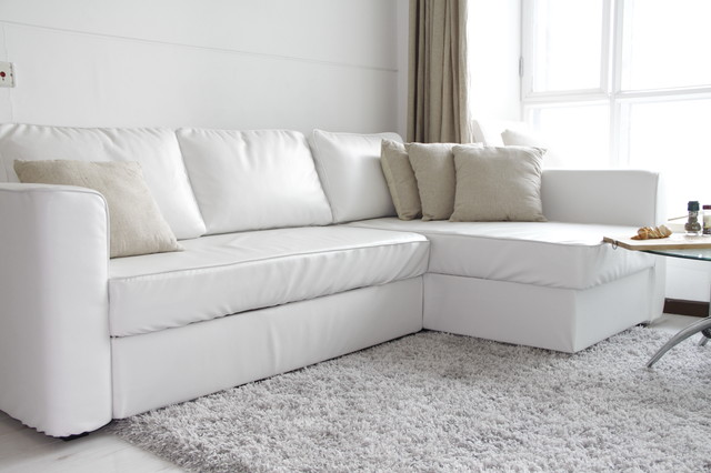 Custom Leather Sofa Bed Slipcover Ikea Manstad Modern Sofas Melbourne By Comfort Works