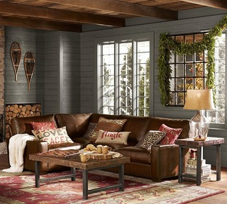 Turner Leather 3-Piece L-Shaped Sectional - Traditional - Sectional Sofas - sacramento - by ...