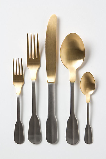Gold-Dipped Flatware contemporary flatware