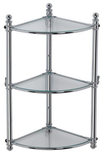 Dina Free Standing Shelf In Polished Chrome Contemporary Bathroom Cabinets And