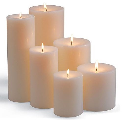 Unscented Pillar Candle traditional-candles-and-candle-holders