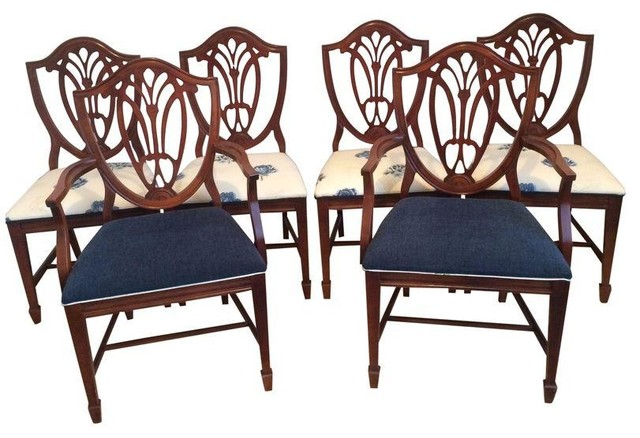 pre owned duncan phyfe shield back style dining set