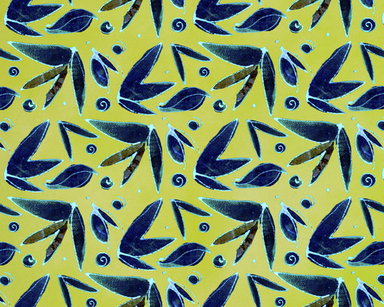 Midnight Butterfly Leaf Chartreuse Designer Fabric - Abstract butterfly and leaf on tone on tone to mix & match. Perfect for tabletop, bedding, curtains, children's and more.