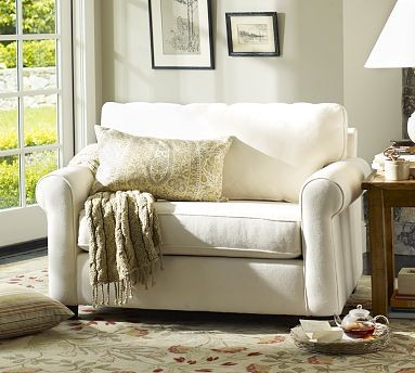 Buchanan Upholstered Twin Sleeper Armchair, Polyester Wrap Cushions, Performance traditional-accent-chairs