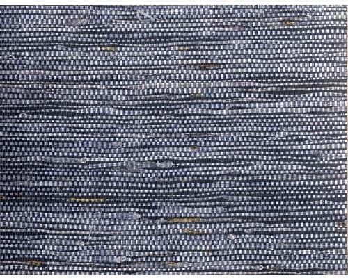 Dark Gray-blue On Darker Blue Fine Mesh Grass Cloth