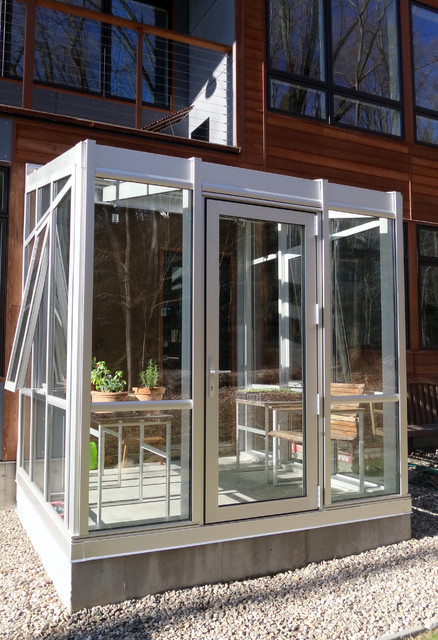 Clear Anodized Residential Greenhouse Modern