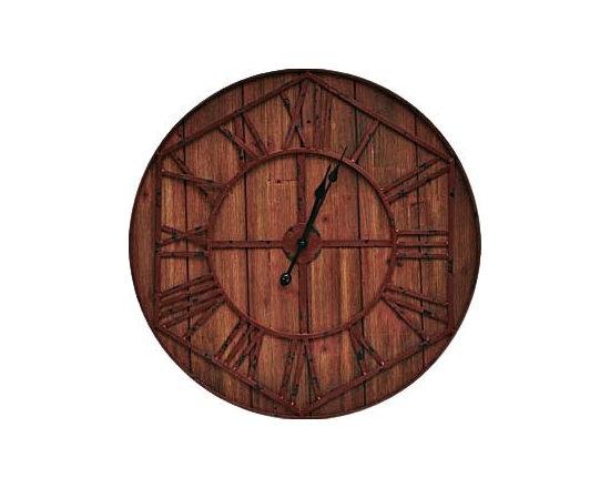 Crestview Wood and Metal Maxim Wall Clock -