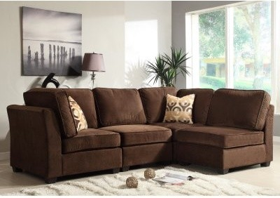Ridgetown 4 Piece Sectional - Chocolate modern-sectional-sofas