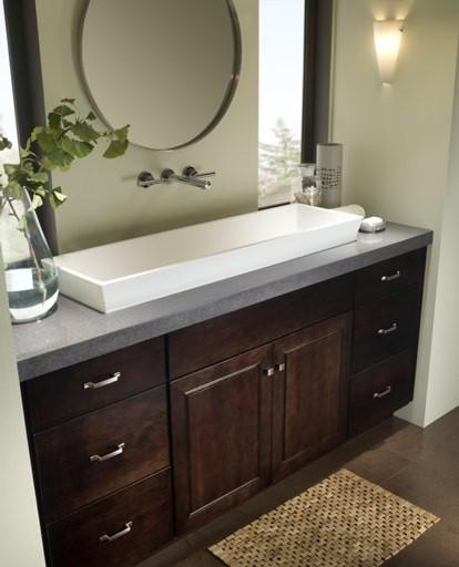 Vanity Side Splash : Countertop in zodiaq storm grey contemporary vanity tops