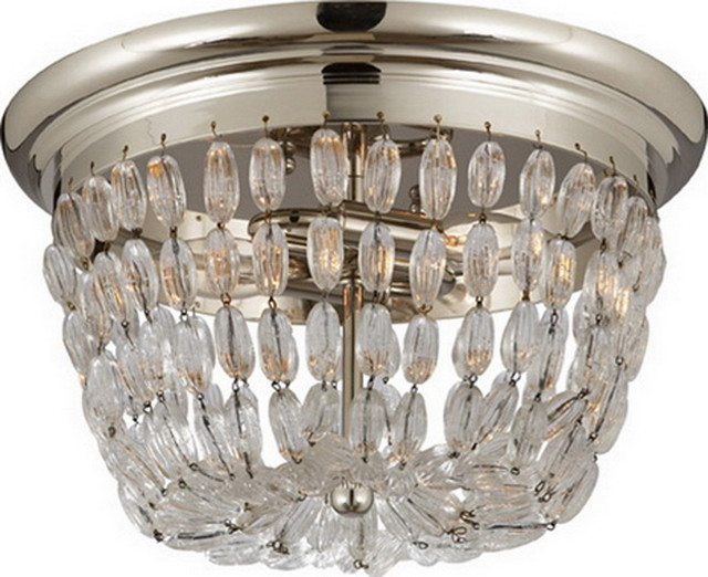 MEDIUM PARIS FLEA MARKET FLUSH MOUNT WITH SEEDED GLASS TRIM traditional-ceiling-lighting