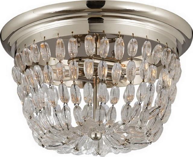 MEDIUM PARIS FLEA MARKET FLUSH MOUNT WITH SEEDED GLASS TRIM traditional-flush-mount-ceiling-lighting