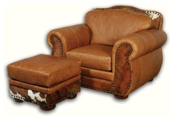 Western Leather Chair With Hair On Hide
