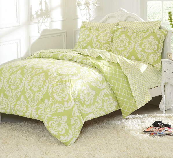 Marcheline Mint Bedding contemporary-bedding
