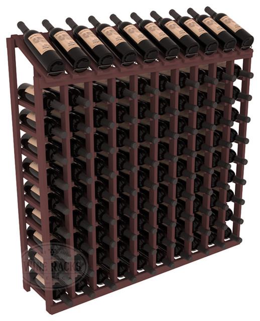100 Bottle Display Top Wine Rack, Walnut Stain contemporary-wine-racks