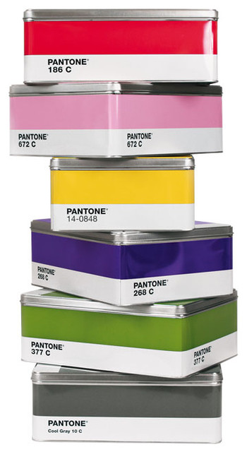 Pantone Tin Box eclectic storage boxes